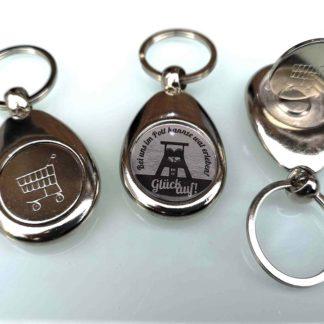 Metall-Schlüsselanhänger mit Chip